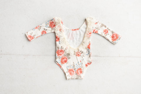 Ready to ship Rose Newborn Romper