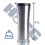 16oz TRAVEL MUG W/ BLACK SCREW ON LEAK-PROOF LID