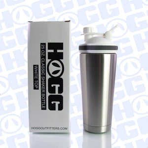 25oz CLASSIC SHAKER BOTTLE CASE (25 UNITS) - WHITE