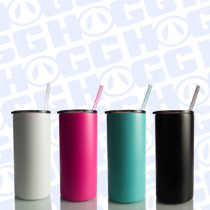 COLORED FATTY 22oz TUMBLER W/ STRAW BUNDLE ( 6 of each color )