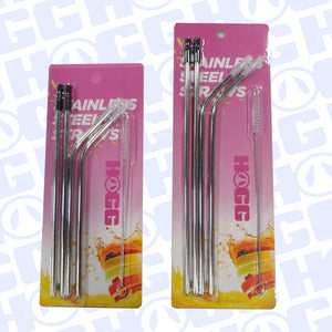 20oz OR 30oz STAINLESS STRAW SETS w/ SILICONE TOPS