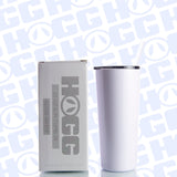 22oz SLIM TUMBLER W/ STRAW - WHITE