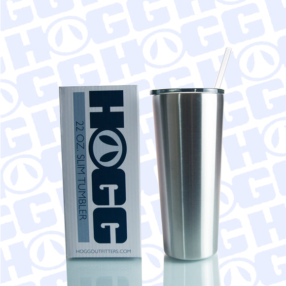 22OZ SLIM TUMBLER W/ STRAW