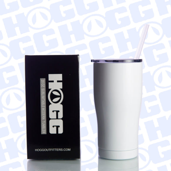 20oz SUBLIMATABLE MODERN 2.0 TUMBLER W/STRAW