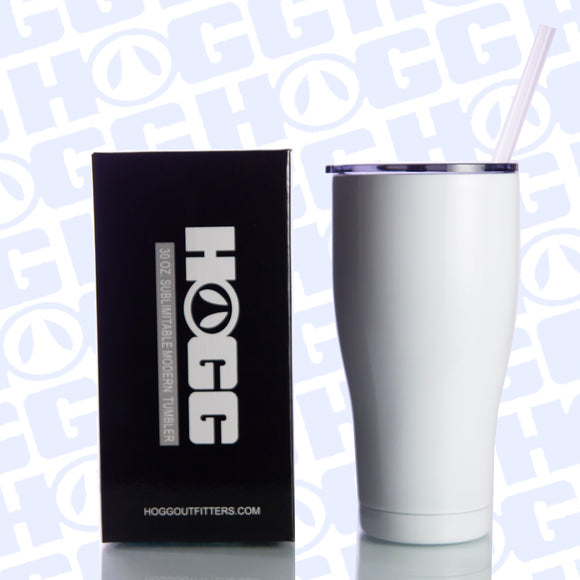 30oz SUBLIMATABLE MODERN 2.0 TUMBLER W/ STRAW