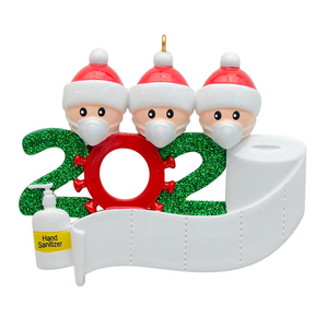 ***CLOSEOUT***  Holiday 2020 Covid-19 Ornaments