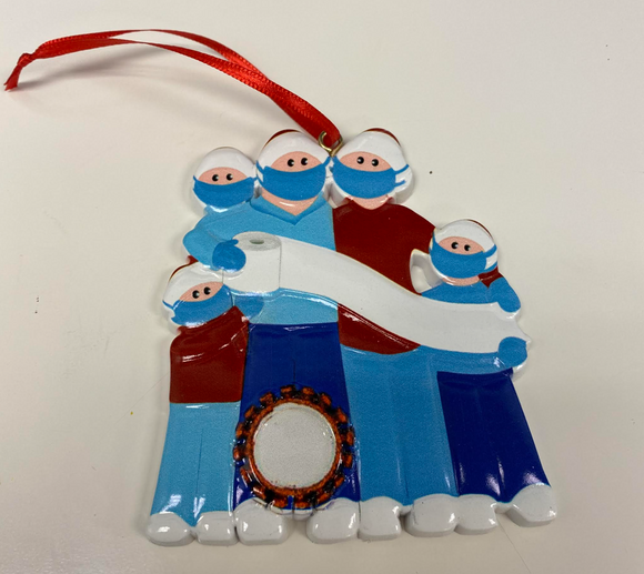 2020 Covid-19 Ornaments - BLUE