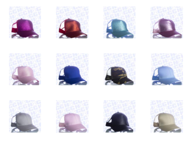 PONYTAIL BASEBALL CAP - GLITTER OR PLAIN