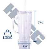 25oz ACRYLIC TUMBLER W/ HANDLE & STRAW