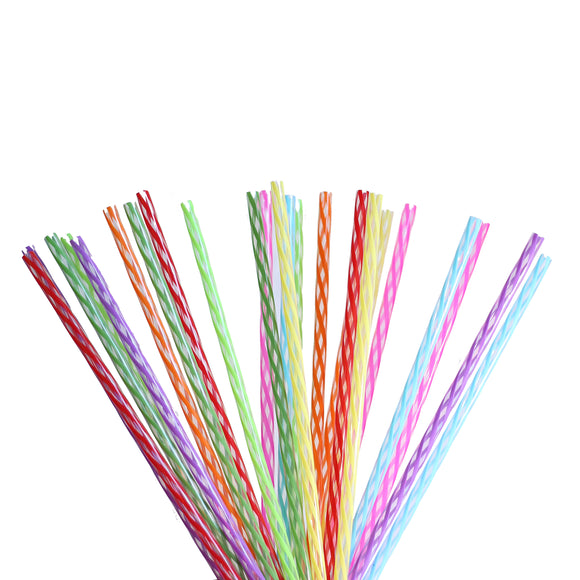 HOGG RAINBOW REUSABLE STRAWS 24 PACK
