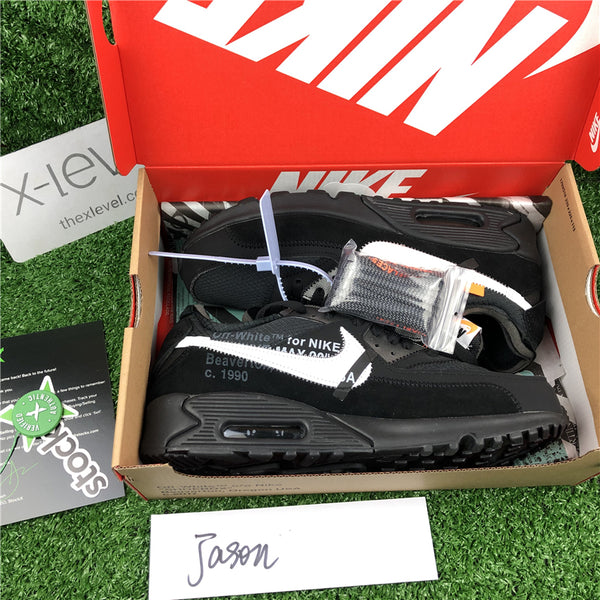 pretty nice 5f5c3 de0ab Air Max 90 - Off-White (Black) – X-Level