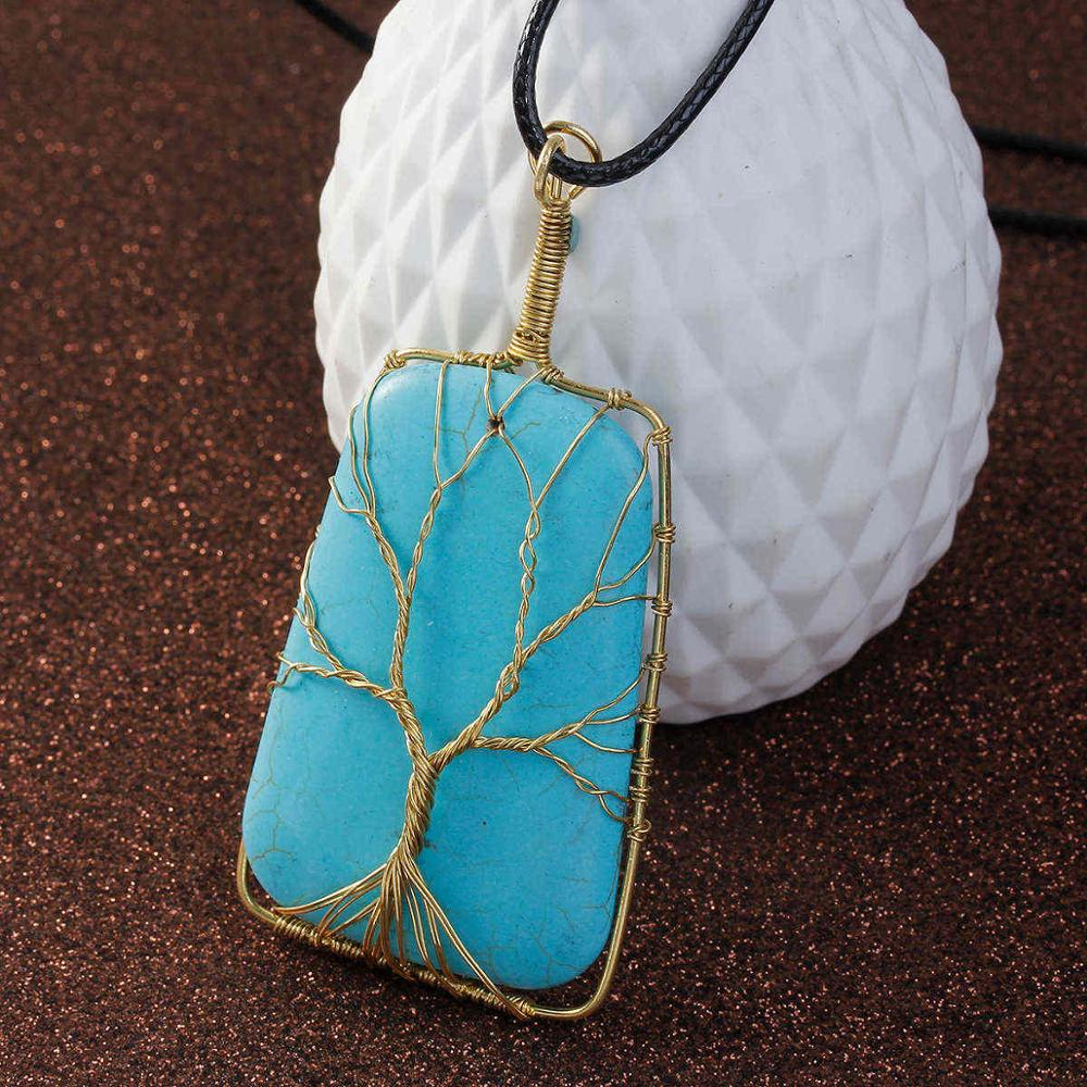 Tree of Life Wire Wrapped Gem Stone in 2 Stone Color Choices – Your ...