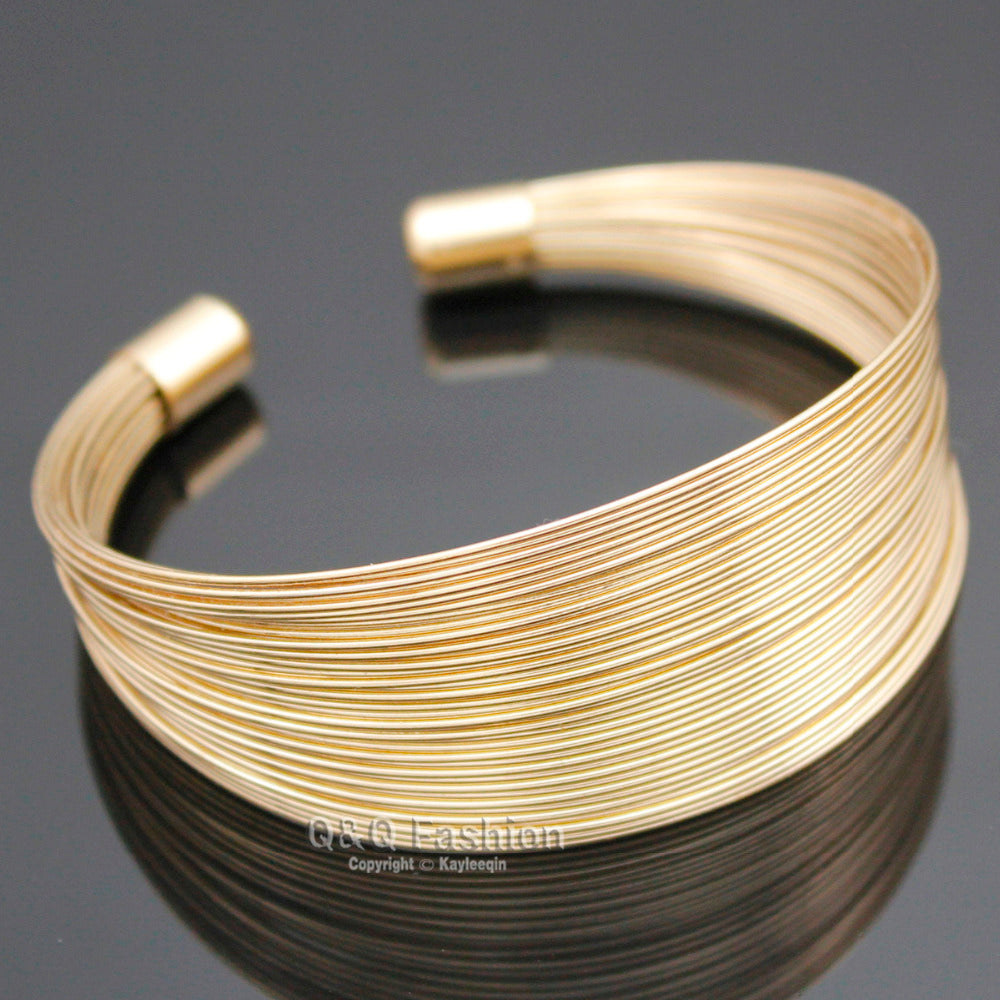 Egyptian Inspired Gold Plated Fine Wire Cuff Bracelet – Your Jewelry ...