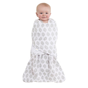 Sleepsack Cotton Muslin Grey Leaves