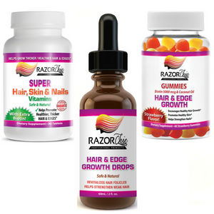 Full System Razor Chic Hair Growth (Hair Drops, Vitamins & Gummies)