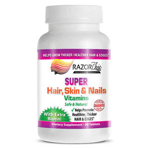 Razor Chic Hair Growth Vitamins (No Additives or Cheap Fillers)