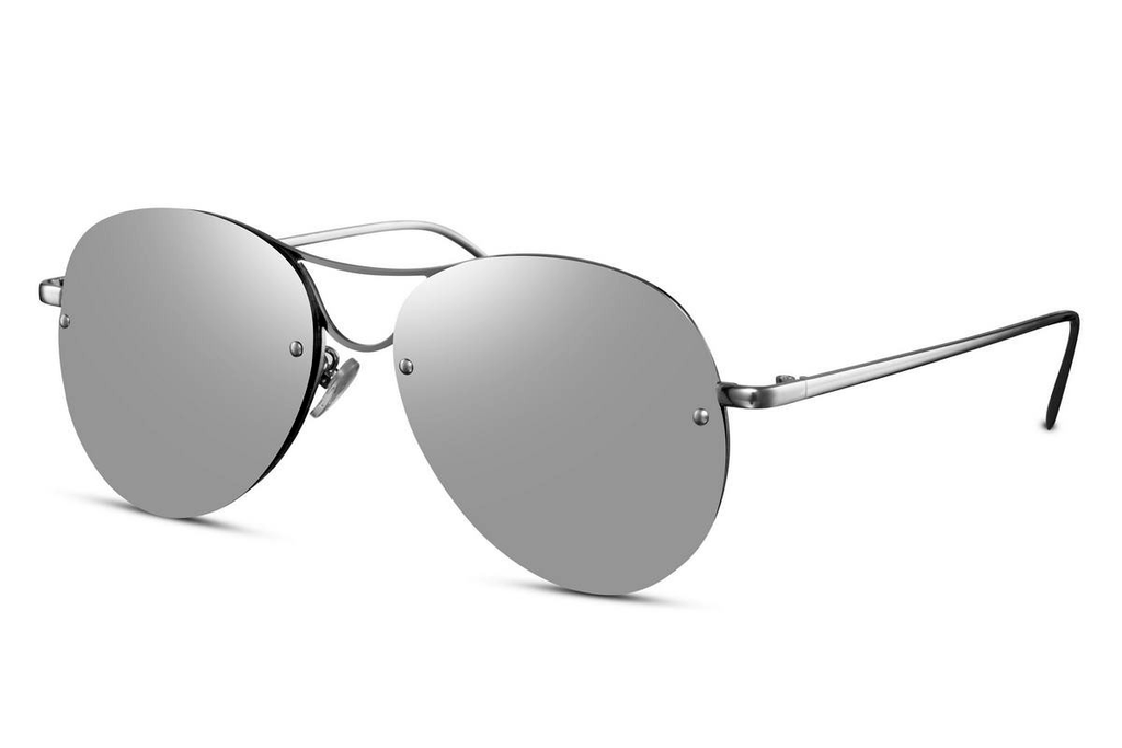 Eighth Will Silver Surfer Aviator Sunglasses