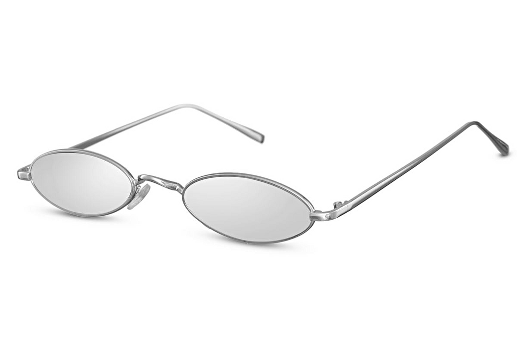 Eighth Will White Noise Oval Sunglasses