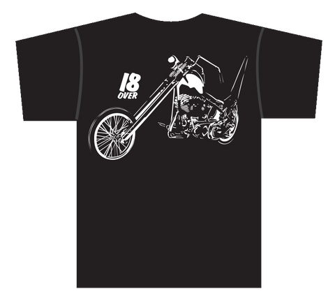 18 Over Chopper T-Shirt Black