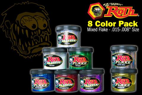 Roth Metal Flake 8 Color Pack</br>MIXED