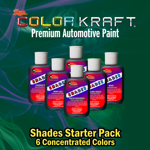 SHADES</br>Concentrated Color</br>6 Color Pack