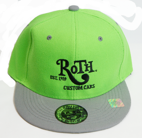 Neon / Grey Snap Back Baseball Cap