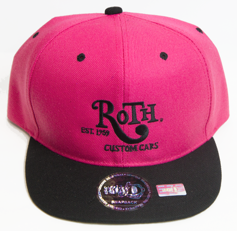 Pink / Black Snap Back Baseball Cap