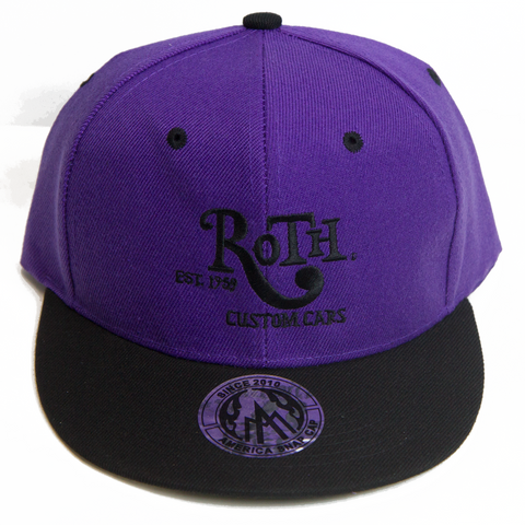 Purple / Black Snap Back Baseball Cap