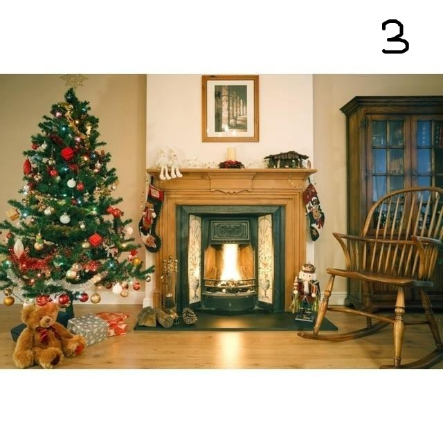 Fire Place クリスマス 撮影用背景