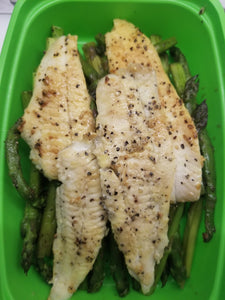 Lemon Pepper Tilapia with Asparagus