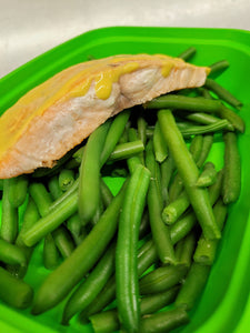 Honey Mustard Salmon with Green Beans