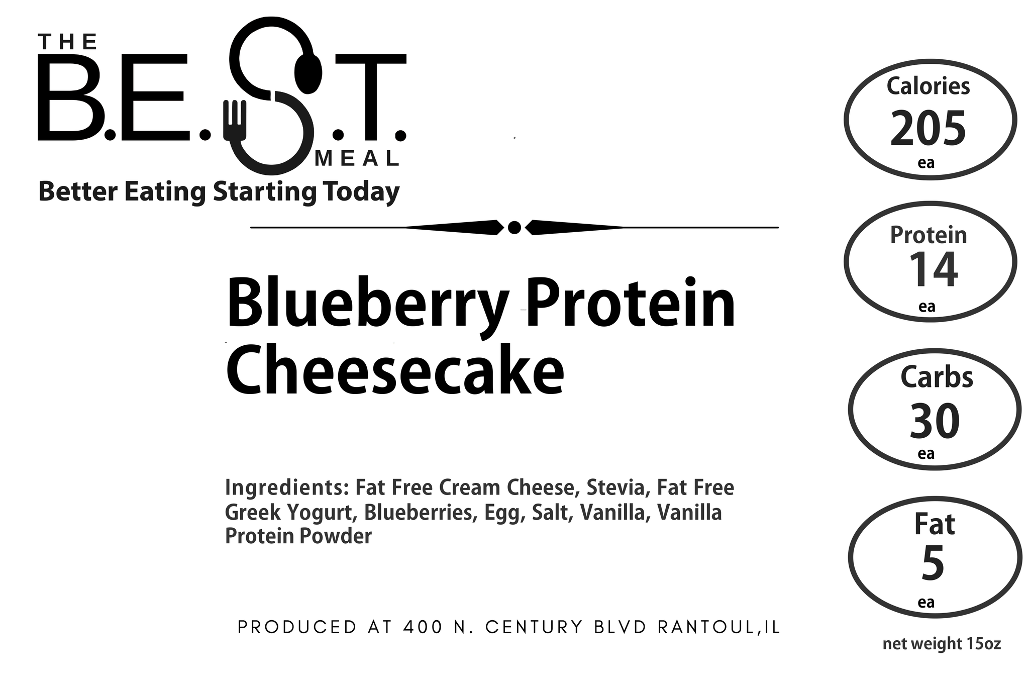 Blueberry Protein Cheesecake