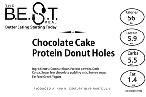 Chocolate Cake Protein Donut Holes