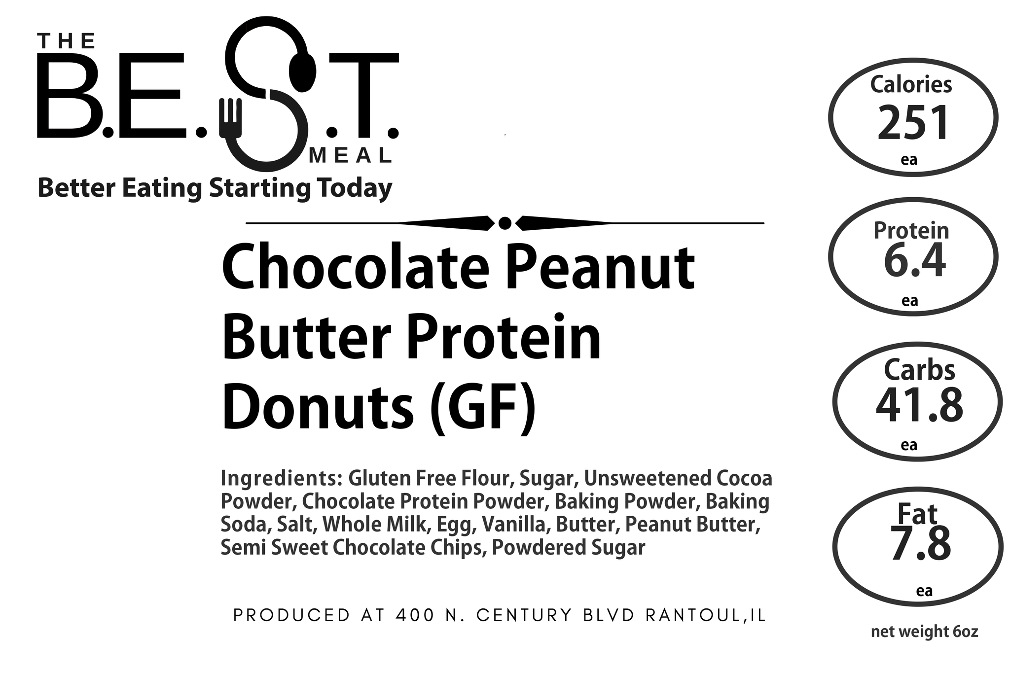 Chocolate Peanut Butter Protein Donuts (GF)