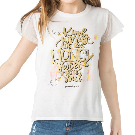 "JOY ""Words of Faith"" Swing Baseball Tee"
