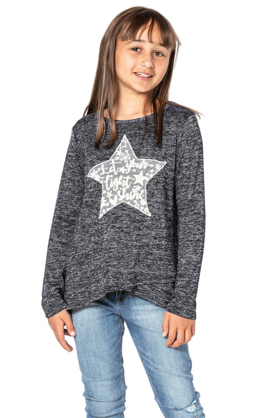 Long sleeve top with star graphic