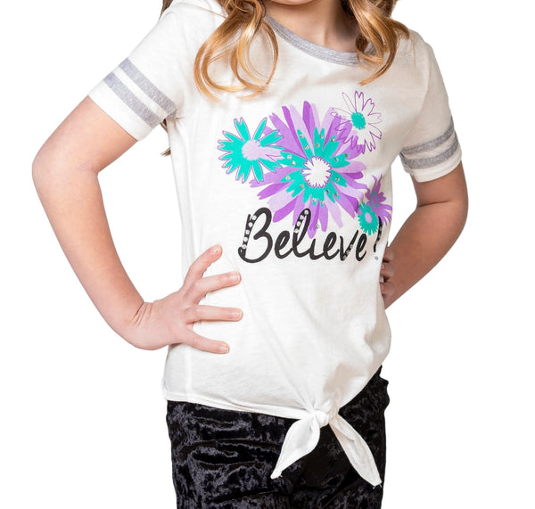 "DAWN ""Believe"" Front-Tie Tee - Fashion X Faith"