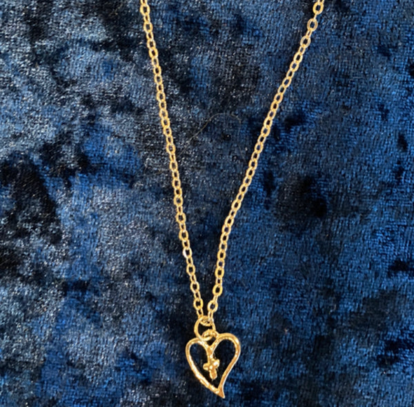 Heart & Cross Necklace - Fashion X Faith