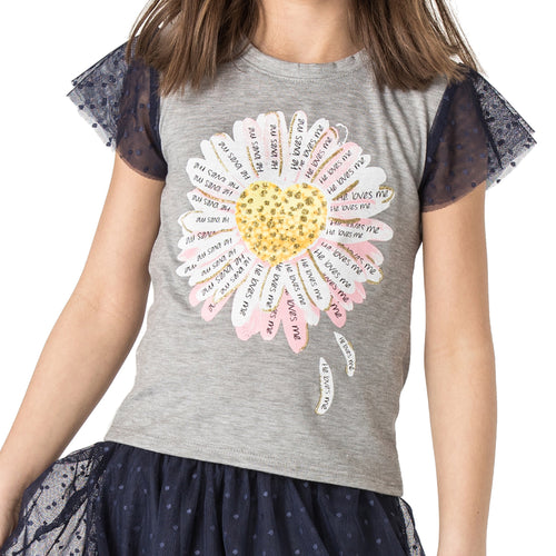 "LILLIAN ""He Loves Me"" Daisy Top"