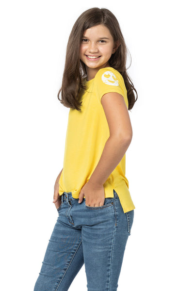 Yellow top for girls and Tweens
