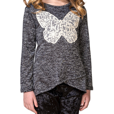 "LINDSAY Sequin ""Love"" appliqué Top"