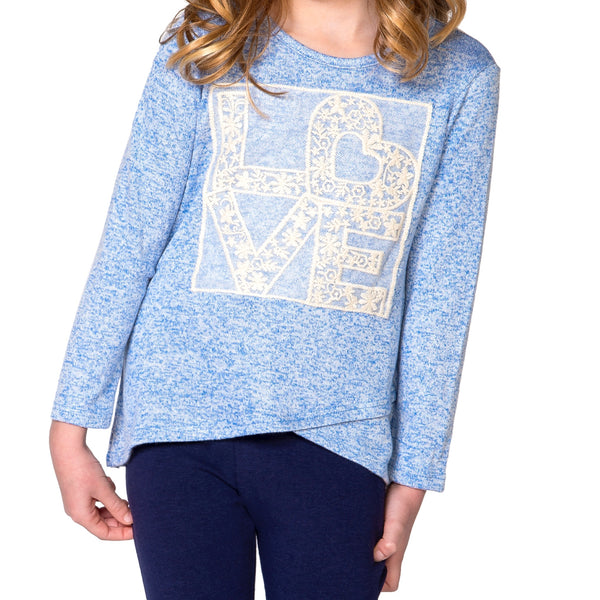 "RIANNA ""Love"" Top - Fashion X Faith -long sleeve top for girls"