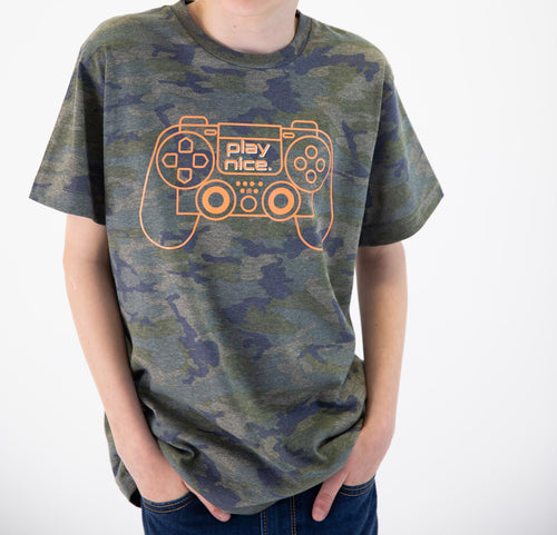 "MATTHEW ""Play Nice"" Camo Graphic Tee"