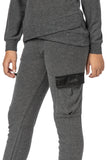 AVA Satin Cargo Pocket Jogger
