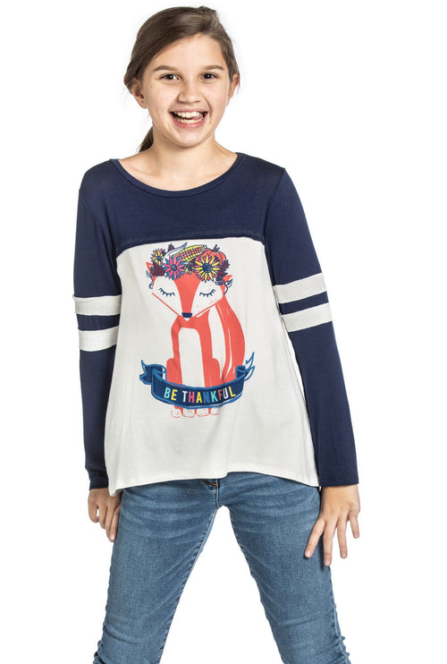 Fox Top for girls and Tweens - Fall Top - Tween clothes