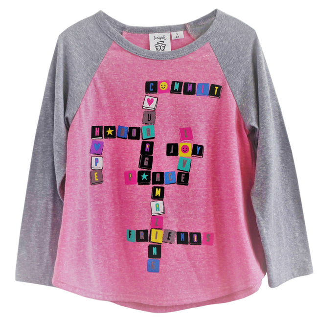 faith scrabble shirt for girls