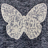 Christian shirt for girls: lace butterfly