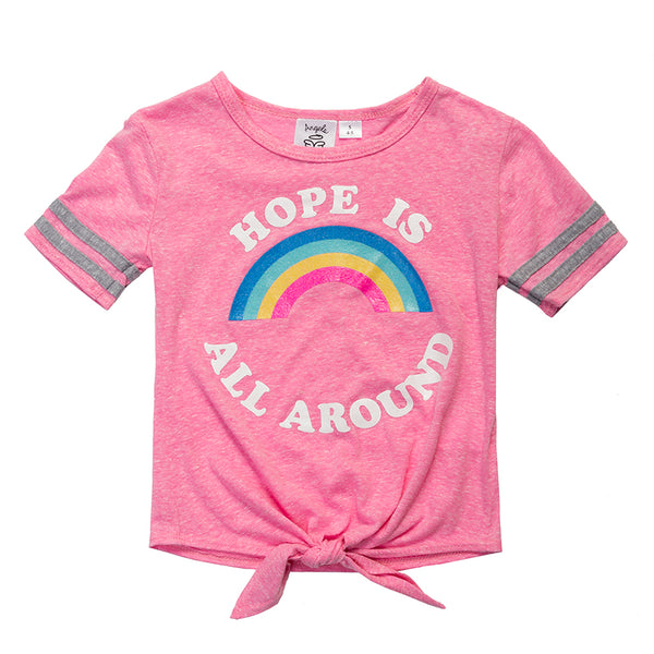 "DAWN ""Hope is all Around"" Tie-Front Tee - Fashion X Faith"
