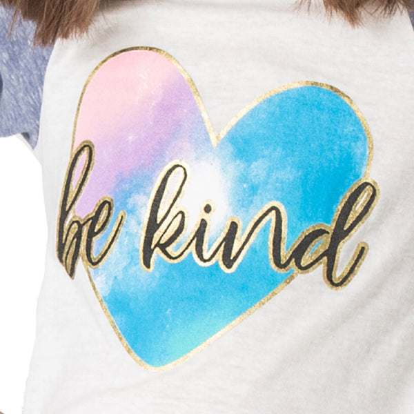"JOY ""Be Kind"" Swing Baseball Tee - Fashion X Faith"