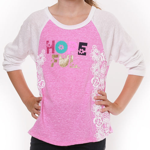 "JANE ""HOPE-FUL"" baseball tee"